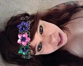Chainmail Scalemail Flower Garland Headband 1960s retro hippie mod renaissance