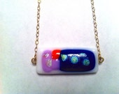 Reserved for Katie- Fused Dichroic Glass and Gold-Filled Chain Necklace