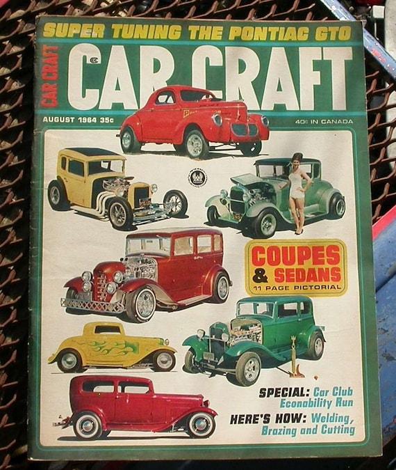 Car Craft August 1964 Vintage Automobile Magazine Cars