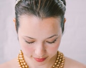 Darcy: leaf and crystal headband in silver or gold