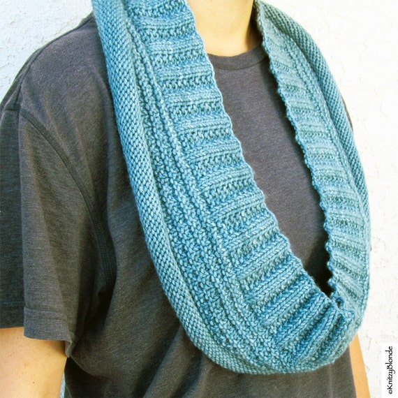 Knitting Patterns Cashmere Wool : Infinity Scarf Long Cowl Cashmere Merino Wool Dusty Aqua