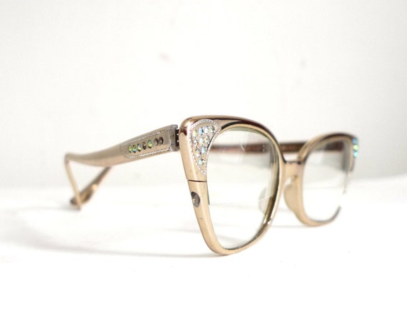 Season Sale Rhinestone High Gloss Aluminum Cat Eye Frames