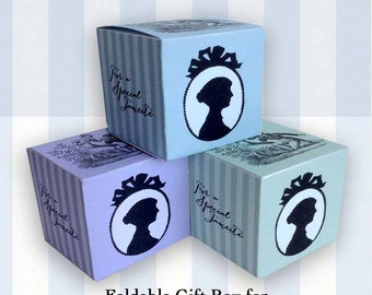 Digital Download - Foldable Gift Box for Jane Austen Teas, Book Group Meetings or Showers