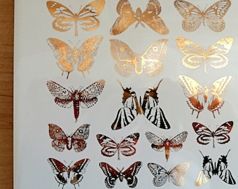 Butterfly Ceramic Decals, Glass Decals or Enamel Decals