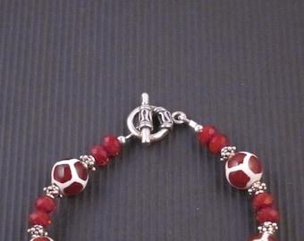 Tibetan Agate Giraffe Bead Bracelet
