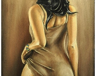 JEREMY WORST Want Some Jack Original Artwork Signed Fine Art Print poster sexy lady woman fashion style Porn Nudes tattoo
