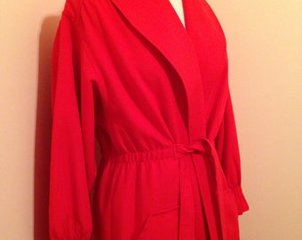 Red Orange Raincoat - Vintage Water Repellent Raincoat Jacket