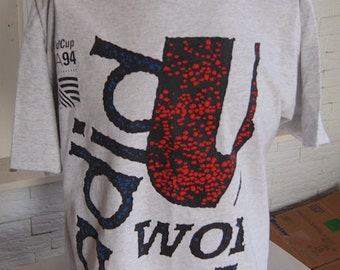 vintage WoRLD CUP T SHiRT US SoCCER 90s Adidas Large (46 inches around chest)