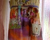 Womens Bohemian Rhapsody Sleeping Beauty Dress Boho Hippie Chic Gypsy Baby Doll sz small to Medium