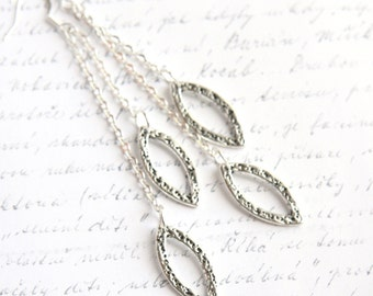 Summer Party Gift Sterling Silver Earrings Multi Chain Earrings Cluster Earrings Fashion Jewelry Bridal Earrings Dangle Drop Earrings Modern