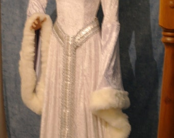 medieval dress, renaissance dress, snow queen dress, elven dress, FAIRY dress, winter wedding dress,  custom made