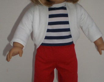 RED LEGGINGS 18 inch doll clothes