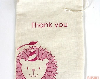 Zoo Party Drawstring Favor Pouches
