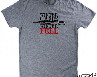 House Stark Shirt. RED WEDDDING SHIRT. Winter Is Coming, Winter Came, Winter-Fell. Rains of Castamere. Unisex Tee For Men & Women
