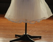 "Crinoline petticoat skirt for women's 50's wedding bridesmaid dress in  WHITE  23"" long"