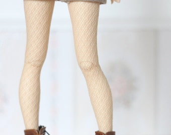 Ocre/Peach fishnet stockings for BJD