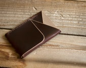 Double-Cross Wallet (Brown Chromexcel) - InkleafLeather