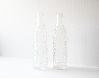 Vintage Orange Crush Soda Bottles - Collectible Pop Bottles - 1920s Clear Glass Beverage Bottles - Peoria IL Nostalgia - Man Cave Decor