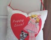 SALE - Valentines Door Hanger - Puppy Love