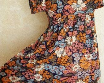 Vintage floral matte jersey maxi dress
