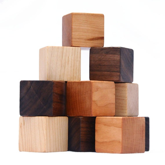 Wood Toy Blocks, eco friendly baby toy with gift bag