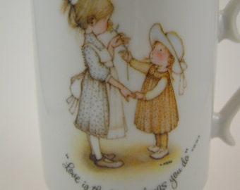 50% off clearance sale! vintage Holly Hobbie porcelain mug, the little things