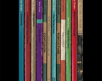 New Order 'Substance' Album As Books Poster Print