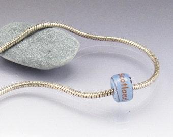Scotland large hole bead charm big hole bead  keepsake memorial jewelry SRA