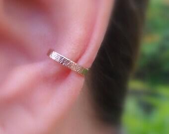 Ear Cuff - Fake Conch Piercing - Fake Piercing - Faux Piercing - Fake Piercings -  14K Rose Gold Filled - 2mm Wide Ear Cuff - Conch Cuff
