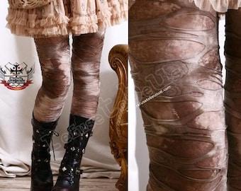Punk Distressed Broken Hole Burnout Mud Rock Canyon Tie Dye Mummy Legging S.M.L.XL.XXL