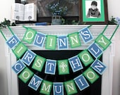 personalized for boy first holy communion banner
