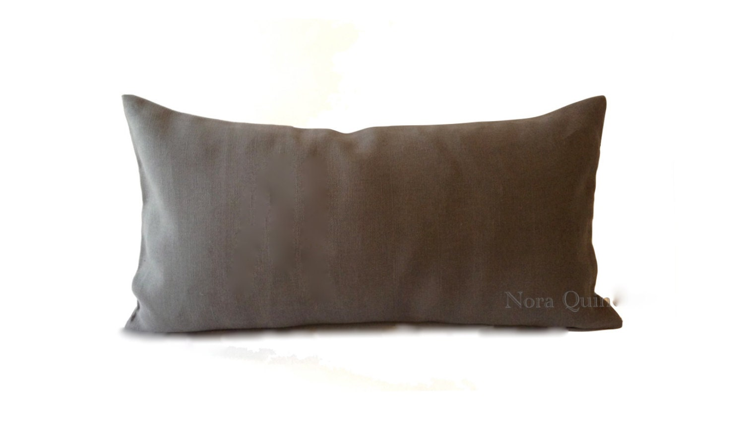 Decorative Bolster Pillow Covers : Gray Linen 10x20 To 12x24 Decorative Bolster Pillow Cover