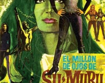 The Million Eyes of Sumuru - 10x15 Giclée Canvas Print of Vintage Spanish Movie Flyer