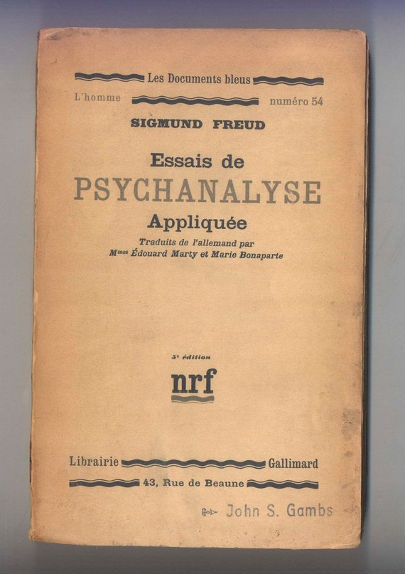essays on sigmund freud psychoanalysis