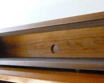 Single Simple Elegant Walnut and Cherry Dovetail Floating Wall Boxes Box  Console Shelves Shelf Mid Century
