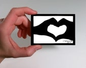 Hands Making a Heart ACEO - Papercutting Paper Art ACEO, Valentine, Valentine Gift, Valentine's Day Gift, Wedding Gift, Anniversary Gift