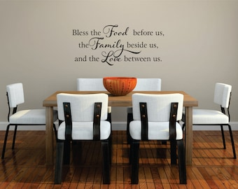 Kitchen Wall Decal - Bless this Food Wall Decal - Kitchen Wall Art - Kitchen Decor - Family Decal