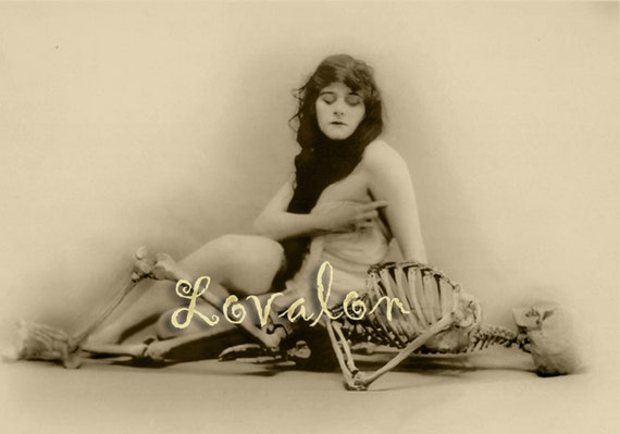 MATURE... Anatomy of Melancholy... Instant Digital Download... Vintage Gothic Nude Photo... Victorian Erotic Photography Image by Lovalon