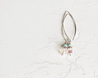 Crystal Earrings. Minimalist Beaded Earrings in Swarovski Crystal and Sterling Silver. Ideal Bridal / Wedding Jewelry
