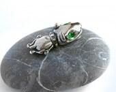 Bull Terrier silver pendant