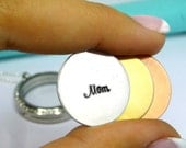 Memory Locket Plate is Personalized Your Way by Hand Stamping