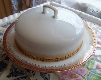 Covered Muffin Butter Dish Carlsbad China Round Muffin Dish