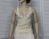 Vintage Beige Cami Size XSmall by Lady Lynne 1960s