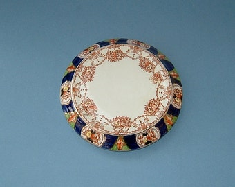 Teapot Stand in Imari Colours Victorian Art Nouveau Red Blue White