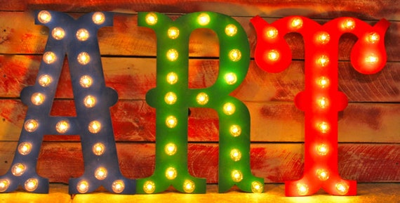 """24"""" LARGE Circus Vegas Carnival Marquee Letters Wood...........       A B C D E F G H I J K L M N O P Q R S T U V W X Y Z"""