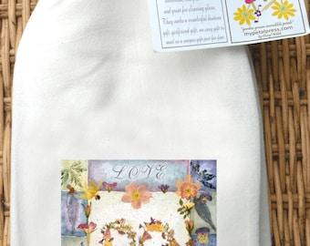 2 Heart Flour sack tea towels