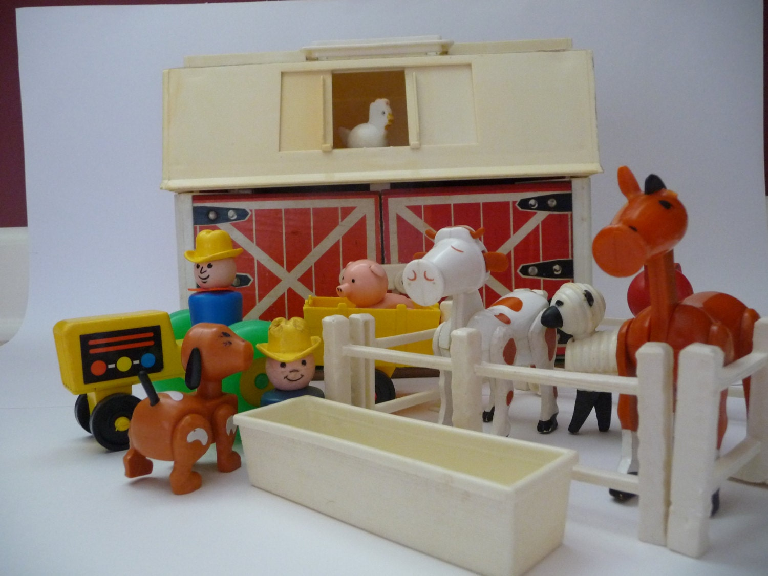 Vintage Fisher Price Play Family Farm Set