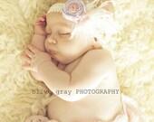 Stunning Newborn Headband-Baby Headband-Baby Girl Headband-Flower Girl Headband-Photo Prop