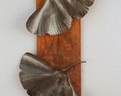 Ginkgo Leaf Metal Wall Sculpture