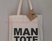 Gift for Man Tote Bridal Party Groomsman Gift Bag For Guy Humor Gift Eco Friendly Tote